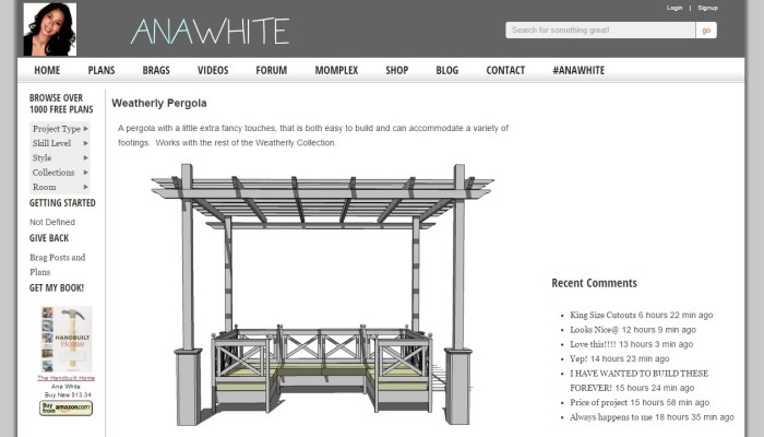 pergola design by Ana White