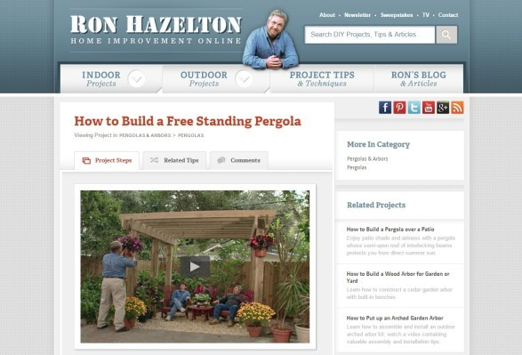 ron hazelton plan on pergola