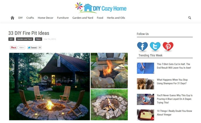 8 diy plans ideas to build a fire pit for Diy cozy homes