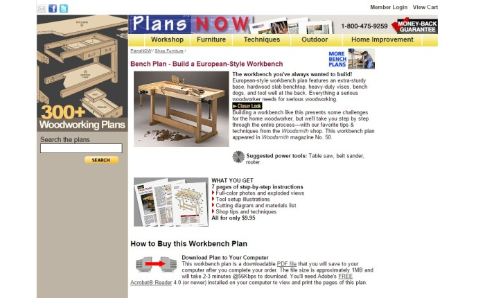 Plans Now source for workbench
