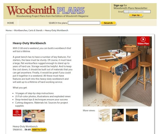 Woodsmith plans for heavy duty version