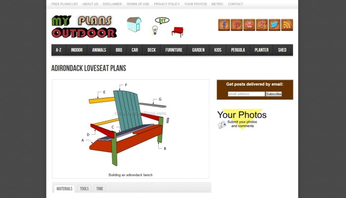 adirondack by My Outdoor Plans