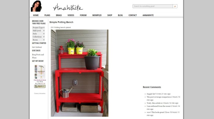 another potting bench from Ana