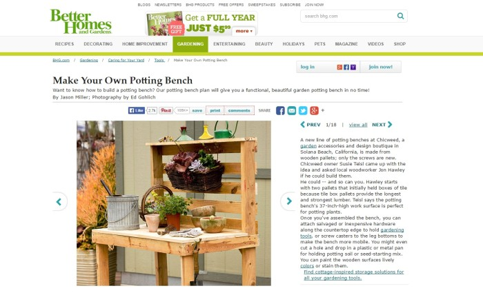 potting bench by Better Homes and Gardens