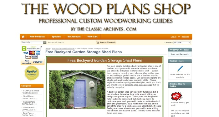 backyard garden shed by The Wood Plans