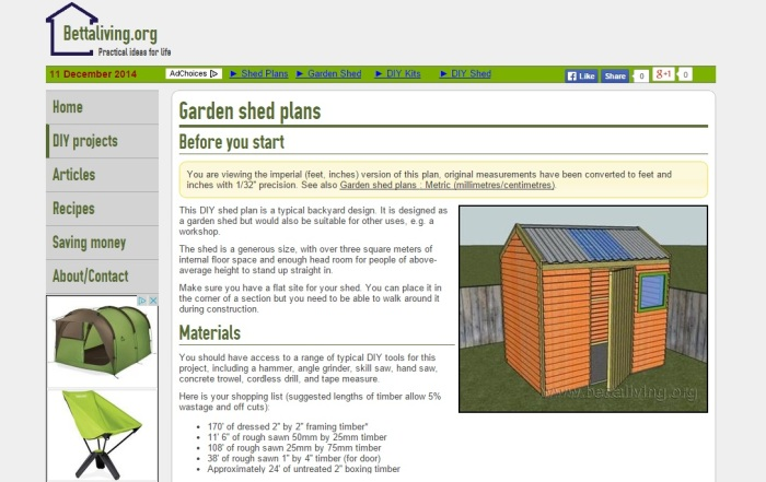 step by step plan for storage shed by Bettaliving