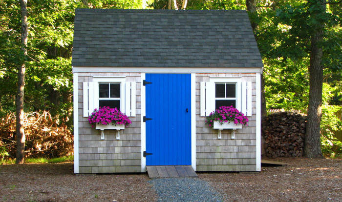 colorful garden shed