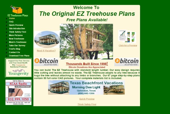EZ treehouse website