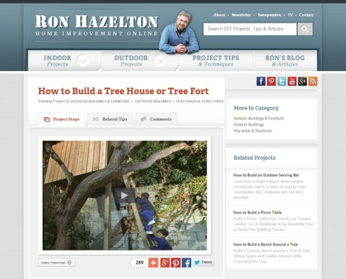 Ron Hazelton treehouse instructions