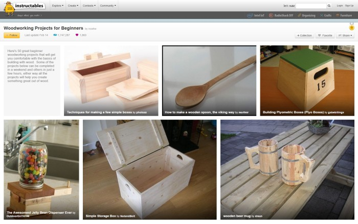 instructables woodworking projects