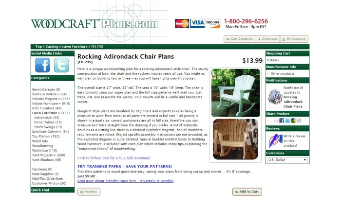 Woodcraft Plans for Adirondack chair